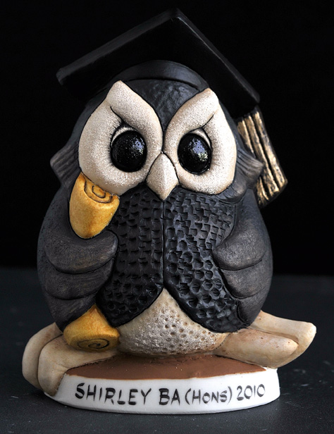 Small Graduate Owl *Not Available 4 Xmas*