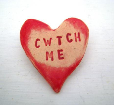 Cwtch Me Ceramic Brooch