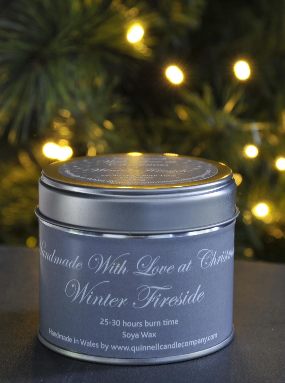 Christmas Quinnell Candle Large Tin (Scents Vary)