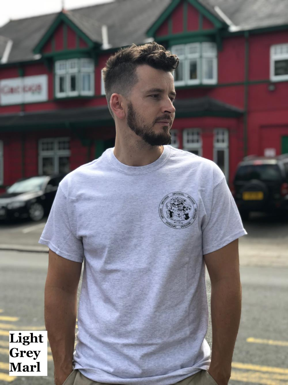 Grogg Retro Tee ~ Light Grey