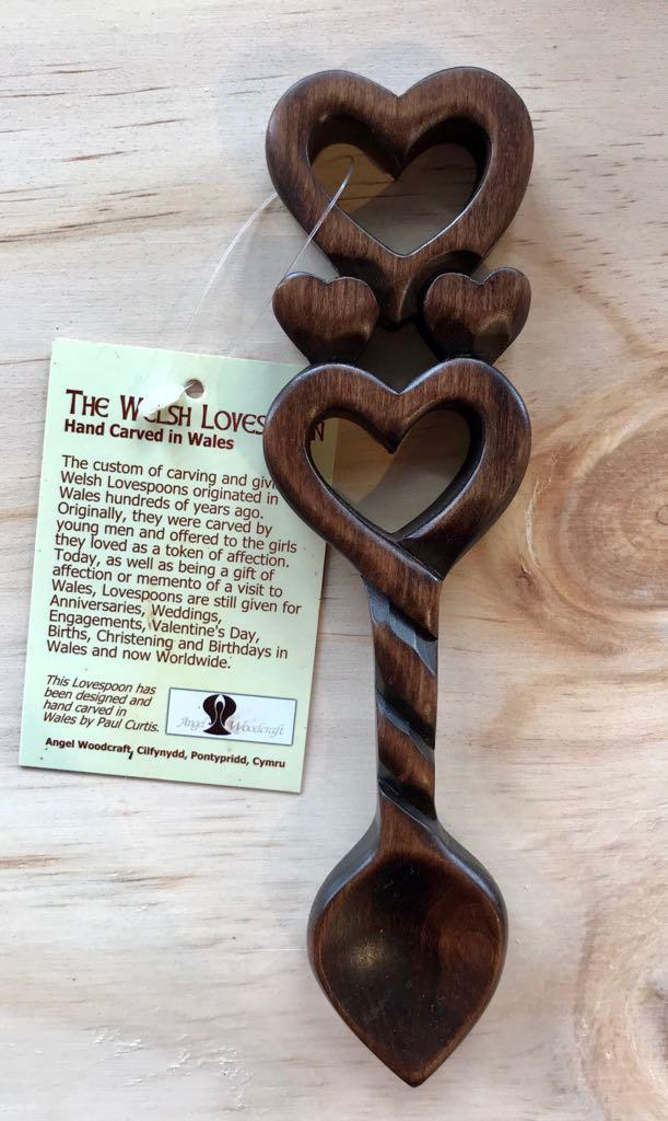 Small Hearts & Twisted Stem Lovespoon