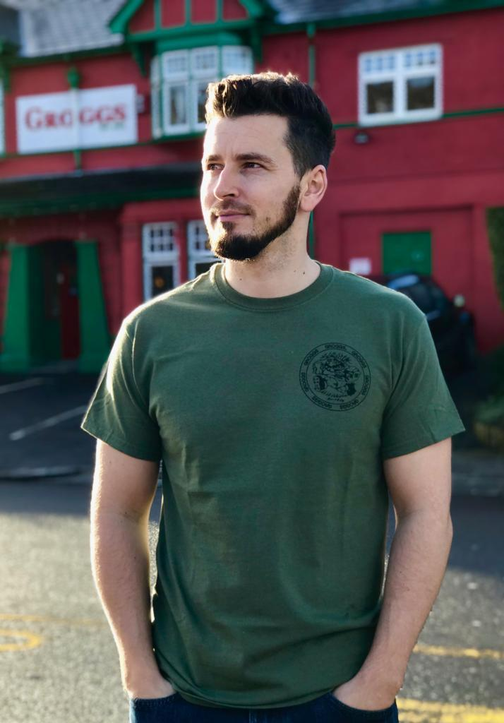 Grogg Retro Tee ~ Military Green