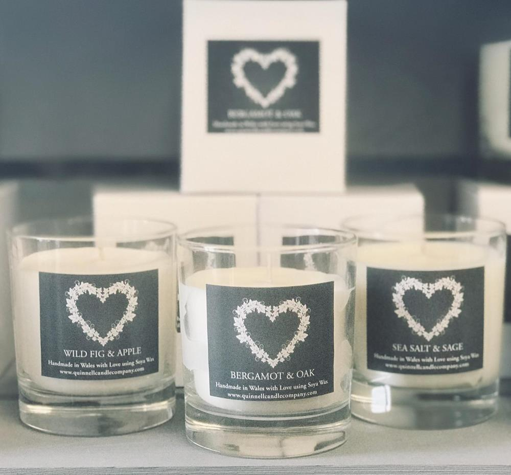 Quinnell Candle (1 wick) - Choice of aromas