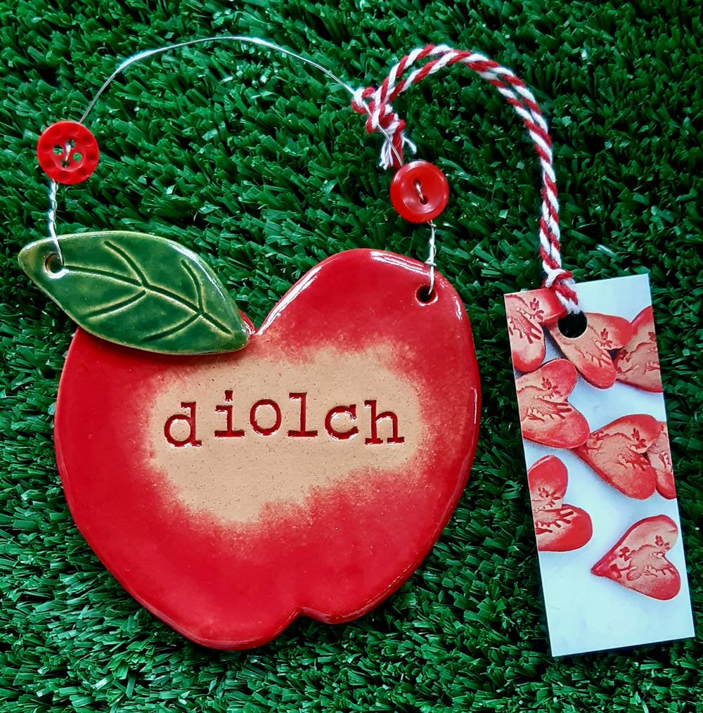 Diolch Ceramic Apple